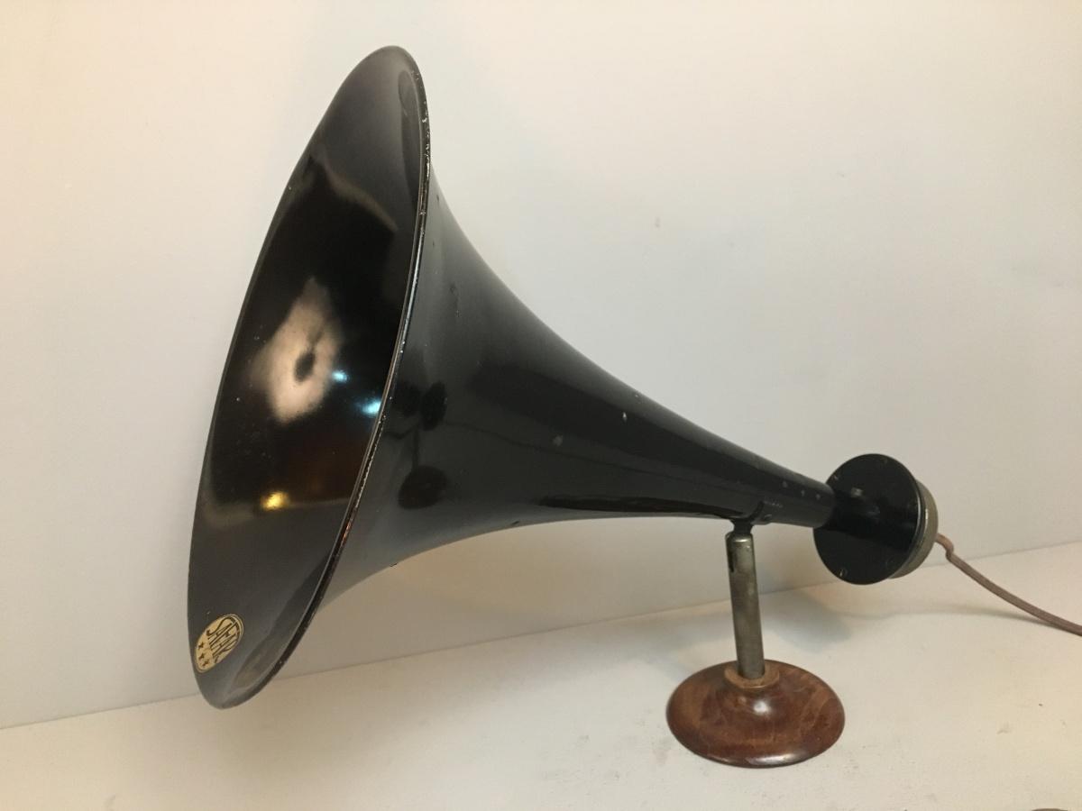 01 ALTOPARLANTE  SAFAR 3 STELLE tromba per radio d'epoca anni 20 ( Tre Stelle)