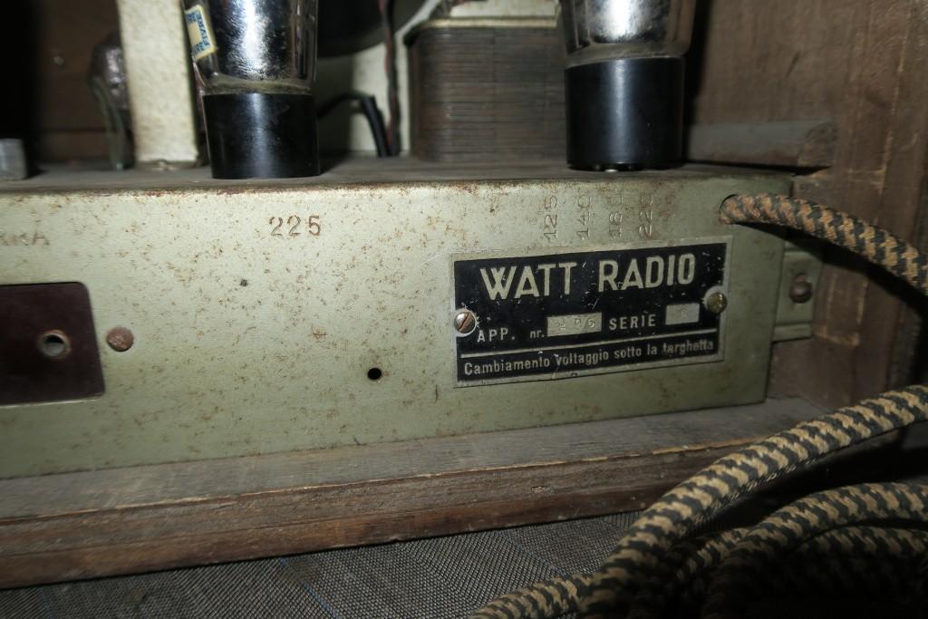 RADIO BALILLA WATT telaio 225 15