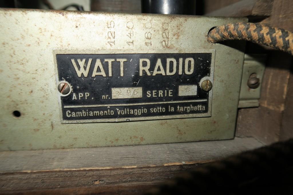 RADIO BALILLA WATT telaio 225 28