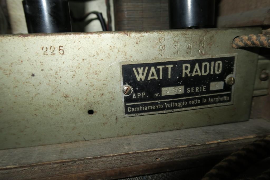 RADIO BALILLA WATT telaio 225 30
