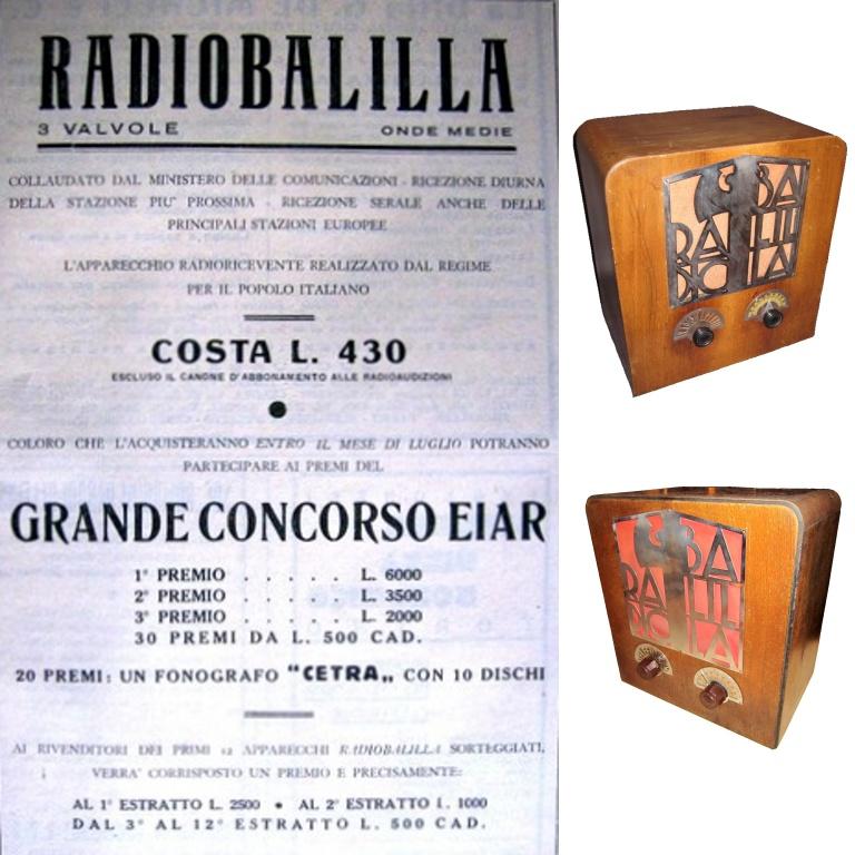 RADIO BALILLA consorso eiar manifesto