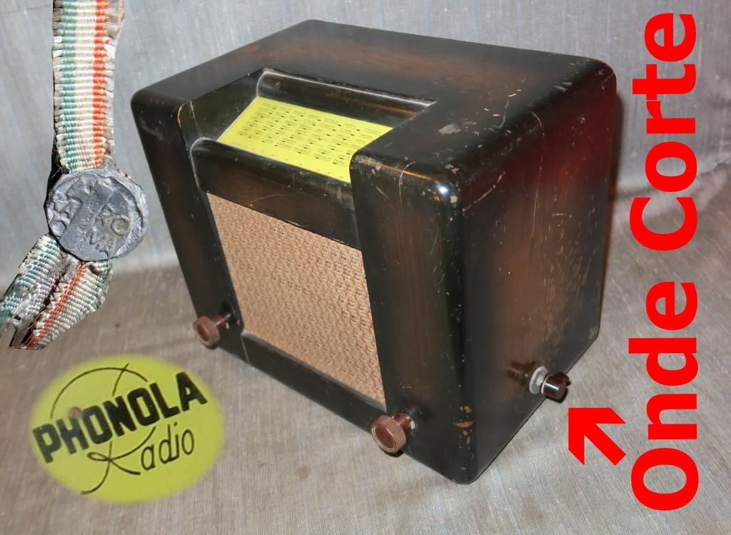 Radio Roma Phonola onde corte ( 2 gamme d'onda) telaio 44