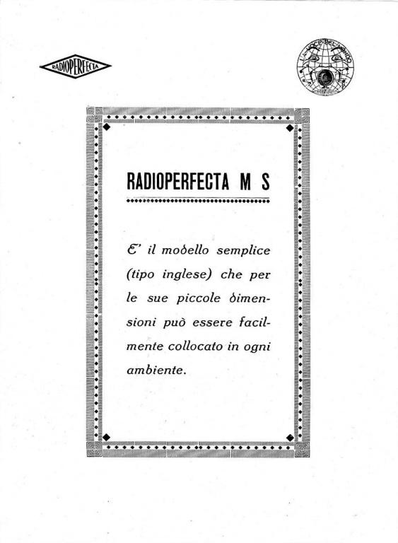 radio perfecta torino valutazione prezzo 29