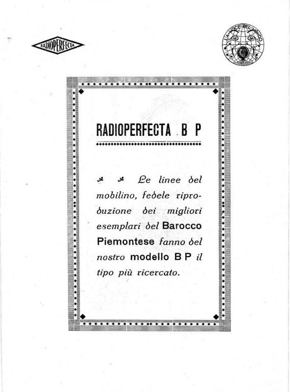 radio perfecta torino valutazione prezzo 8