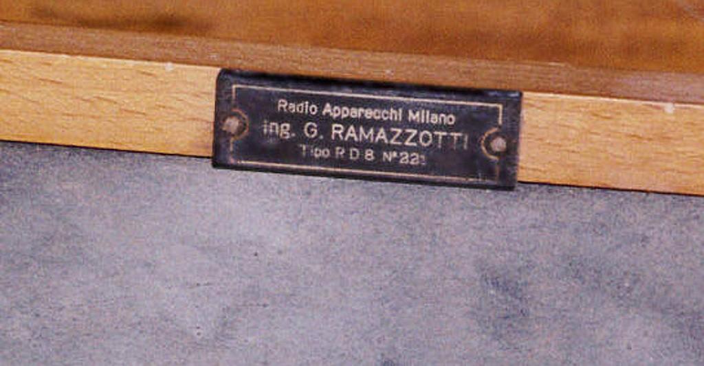 ramazzotti rd8 prima serie N 221 4