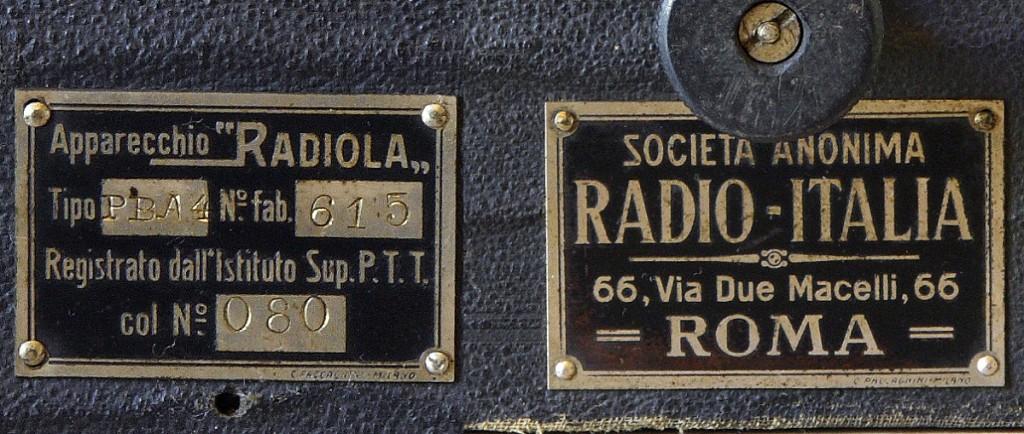 RADIO ITALIA modello radiola PBA4 2