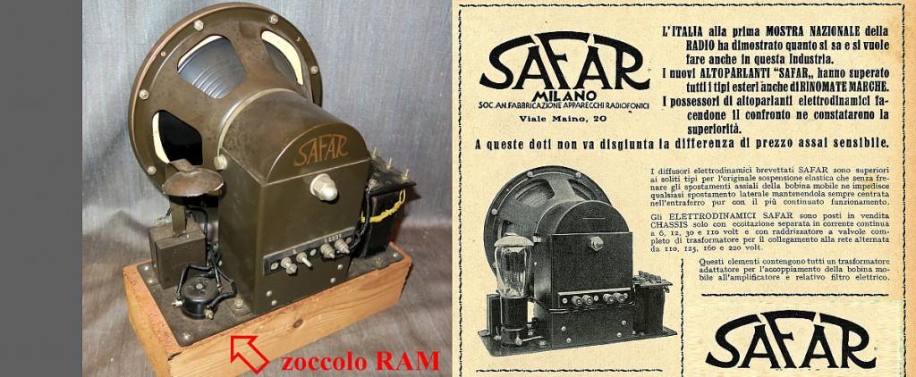 Safar altoparlante R211 elettrodinamico 26
