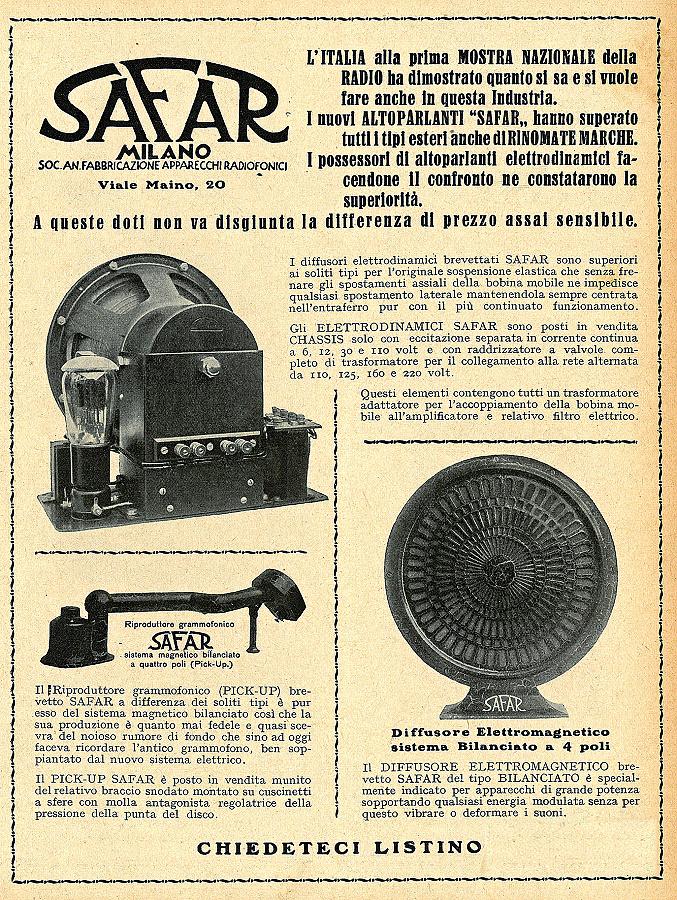 Safar altoparlante R211 elettrodinamico 28