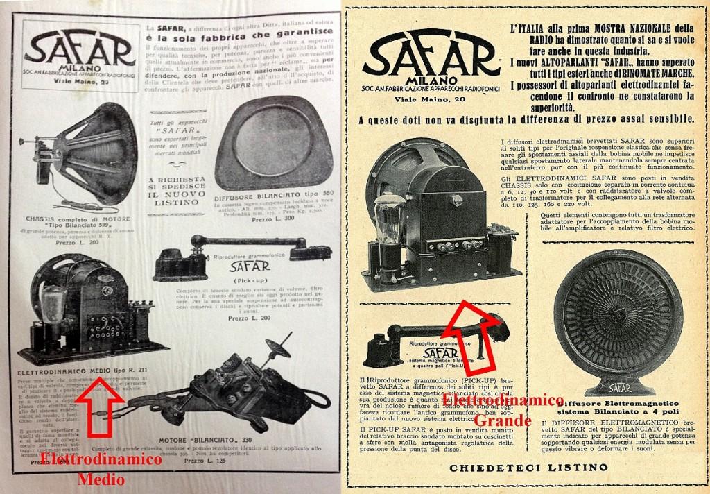Safar altoparlante R211 elettrodinamico 29