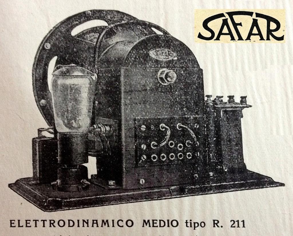 Safar altoparlante R211 elettrodinamico 30