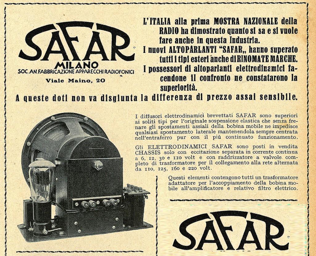 Safar altoparlante R211 elettrodinamico 31