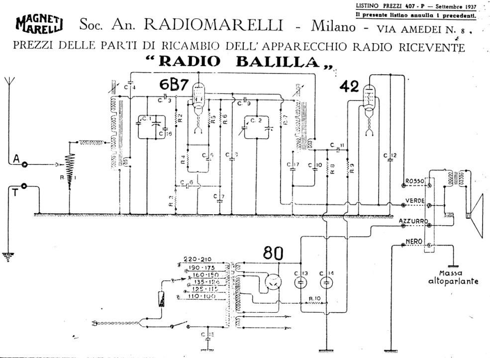 Radio Balilla Marelli 44