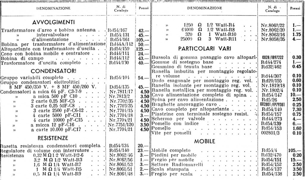 Radio Balilla Marelli 46