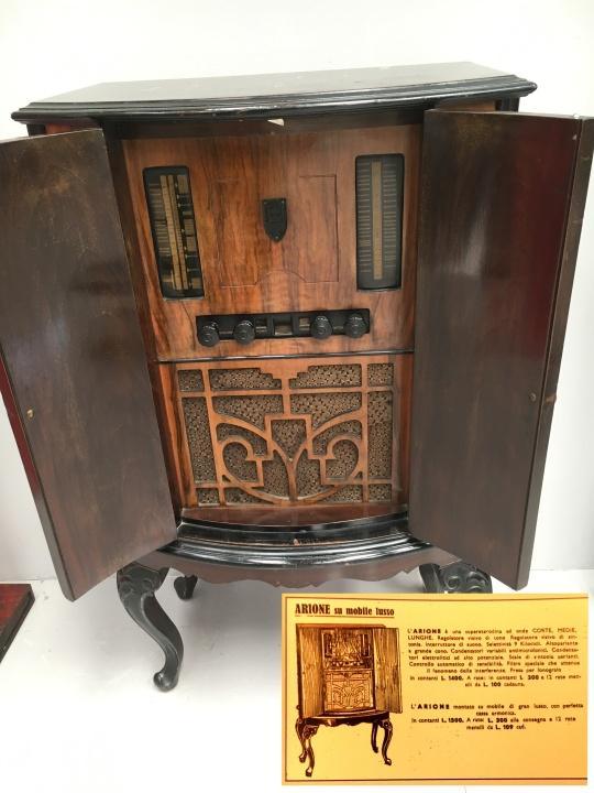 Radio Marelli Arione lusso rarissima ma vera come da catalogo allegato