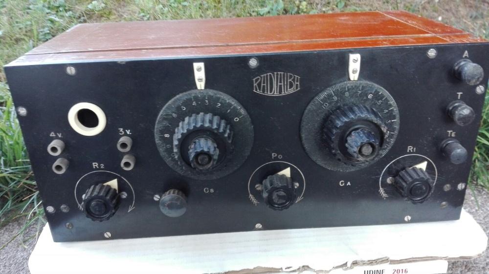Radio Allocchio Bacchini Radioalba anni 20 a 4 valvole