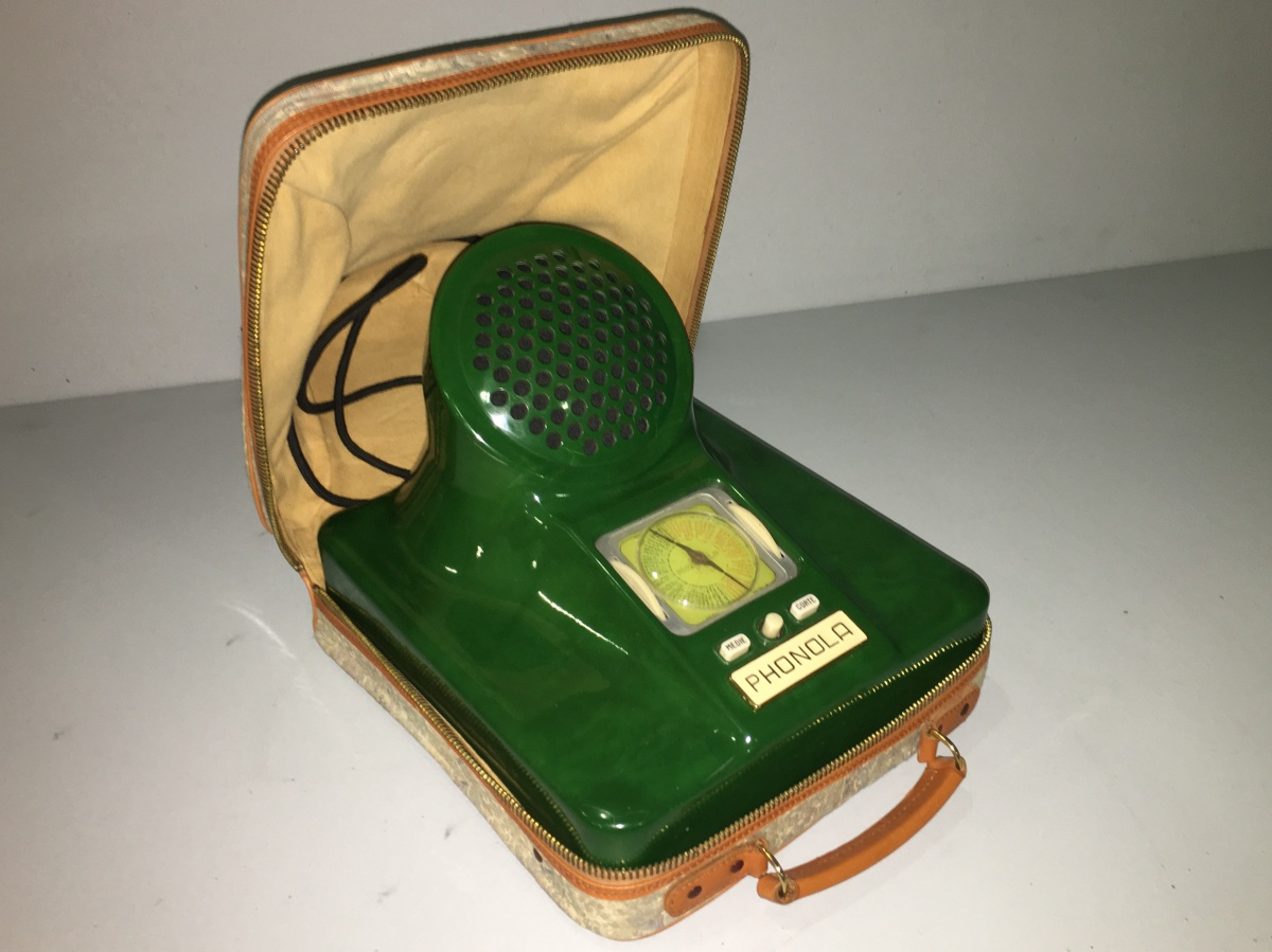 RADIO PHONOLA CASTIGLIONI 573 VERDE PISELLO DESIGN ITALIANO