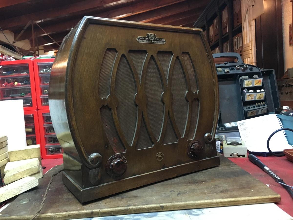 Siti Altoparlante 1383 con Radio SAIR 3 valvole originale 1929