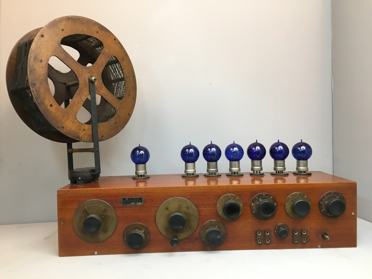Radio anni 20 7 valvole Siti R11 R12 Societa' Industrie Telefoniche Italiane