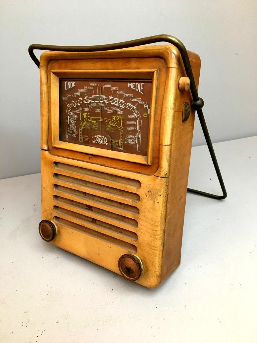 """Radio Safar Mod. 527 """"La radio dell'Avvocato"""". Versione in Legno"""