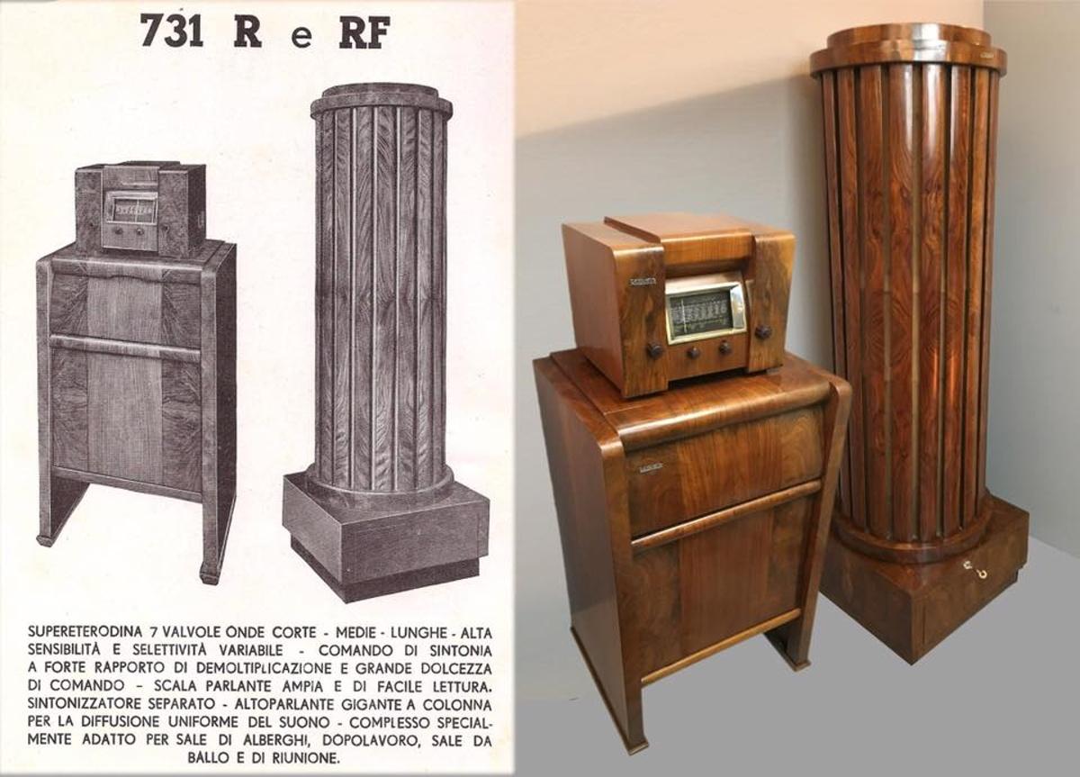 Radio Safar 731 radio grammofono  con altoparlante a colonna