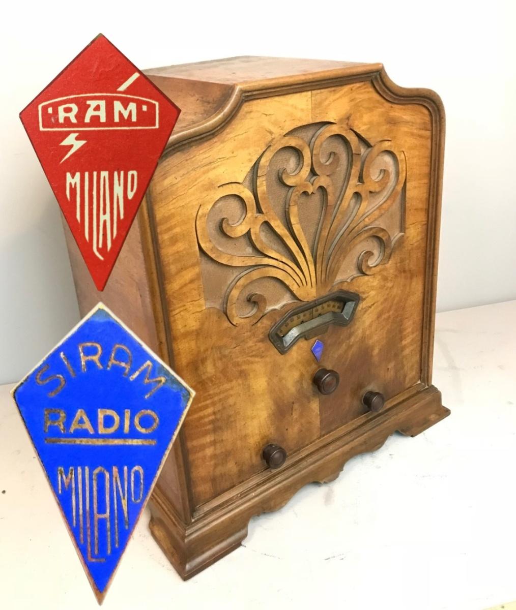 Siram Radio , la cupola della Ramazzotti. Bellissima e molto rara