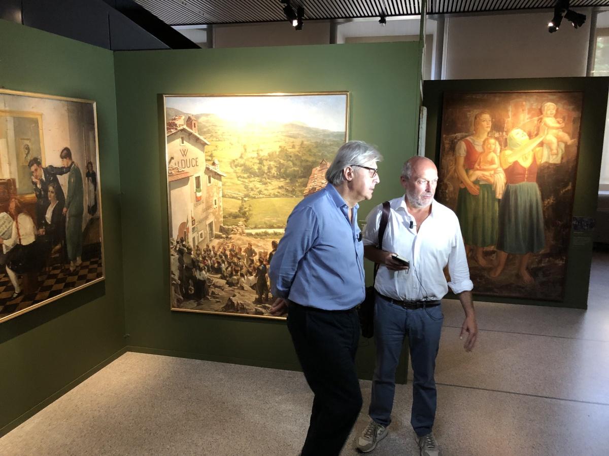 Intervista a Sgarbi, inaugurazione Premio Cremona