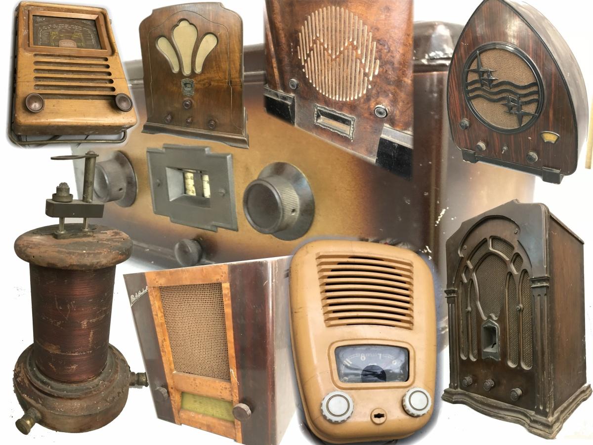 Blocco radio d'epoca ottobre 2018 da una collezione piemontese