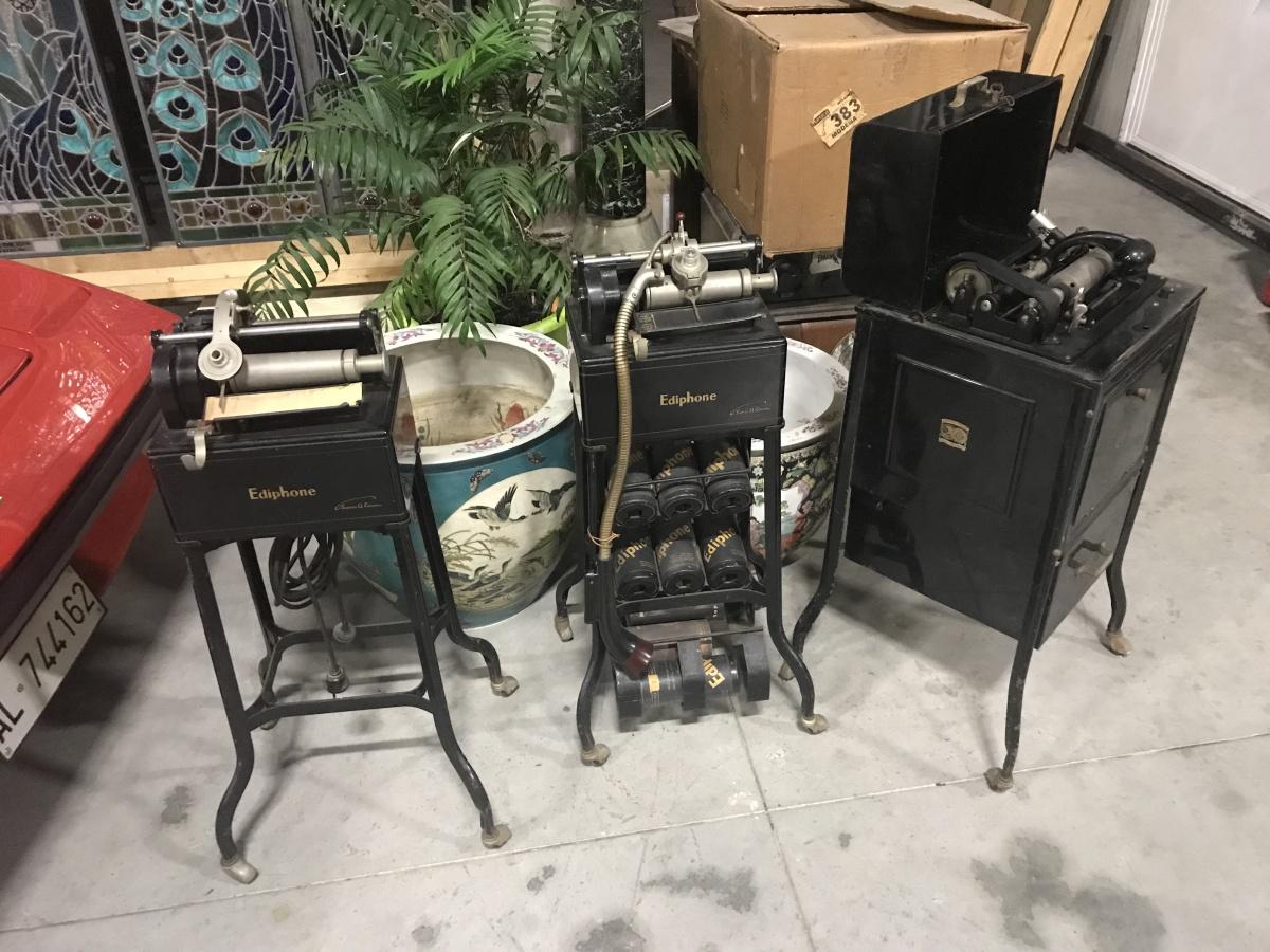 Edison fono incisore a rullo , fonografo, 3 modelli diversi
