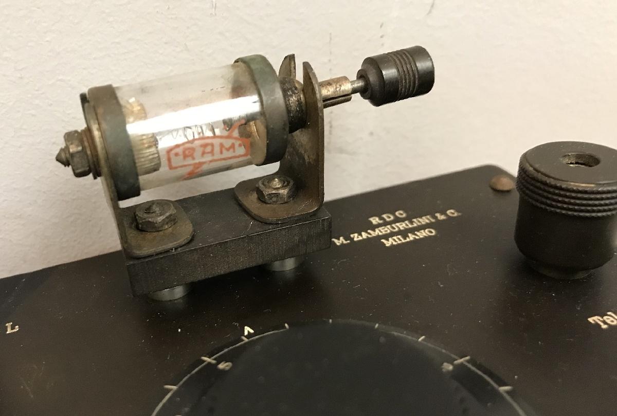 Radio Zamburlini RDG ricevitore a cristallo con detector Ram e Cuffie Ram