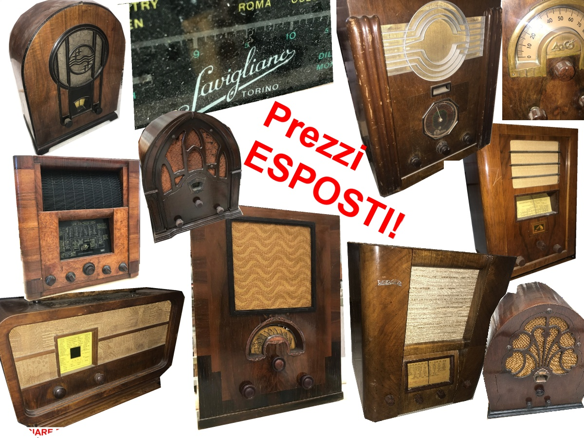 Collezione Lombarda, Agosto 2019, dettagli sulle ultime rimanenze.Ogni radio ha il prezzo esposto in foto.