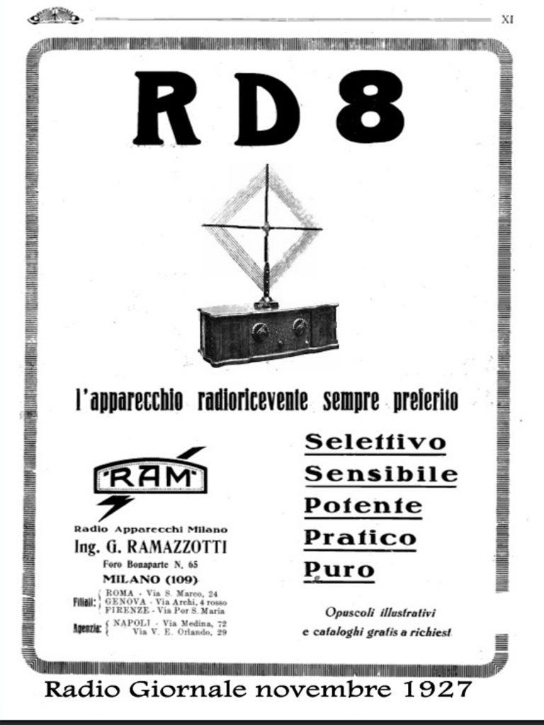 Radio Zamburlini RD8, Ramazzotti prima serie